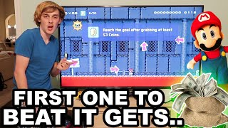 Logan's IMPOSSIBLE Mario Maker Level! (WINNER GETS..)