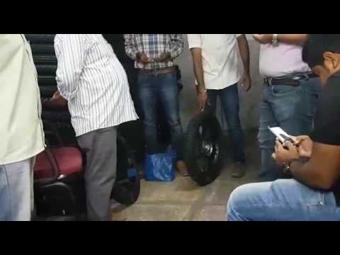 Demo of Nandi Tubeless Tyre