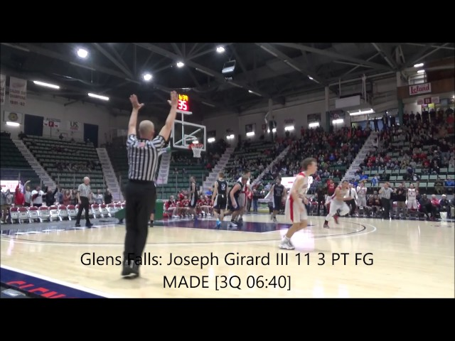 Court side view of Joseph Girard III 17 point 3rd Quarter