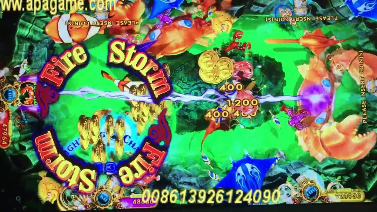 Ocean King 2 Fish Game Machine With Code Box Decoder Monster
