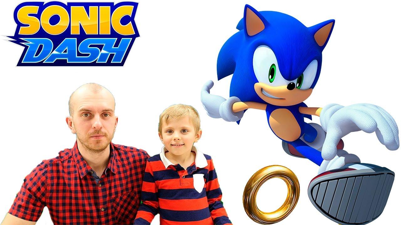 Игра ёжик Соник и его забег!! Даник и папа играют вместе ???? Sonic the Hedgehog