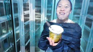 Eating frozen ice cream and getting out of the Refrigeration truck when you lose gomoku(-20 degree)