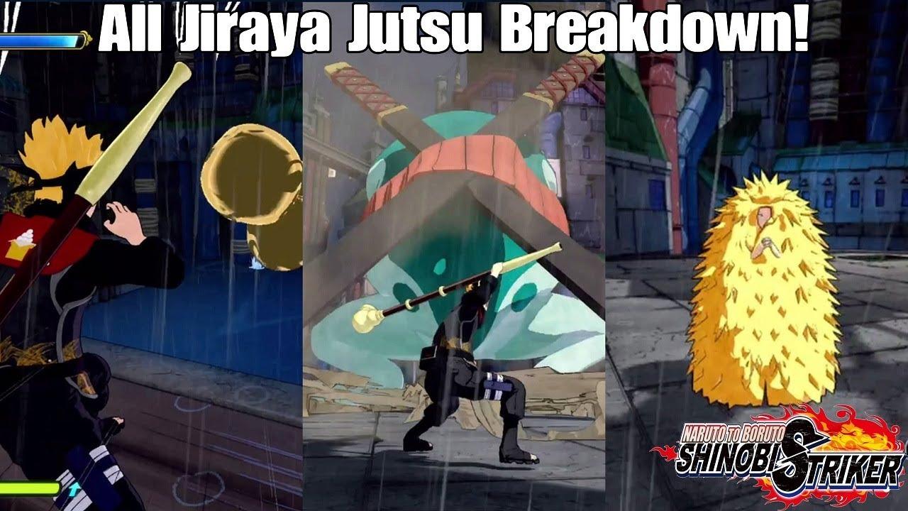 Naruto to Boruto Shinobi Striker All Jiraya Jutsu Breakdown! Is The DLC  Worth It?