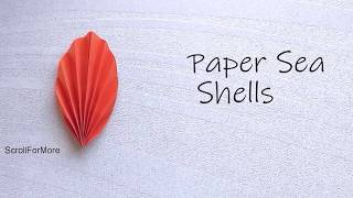 Quick and easy Paper Seashells | paper crafts under 5 min | DIY  Easy paper crafts