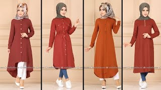Kiremit Rengi  Tunik Modelleri  2020  Modaselvim    Hijab  Clothing    Tunic  Fashion