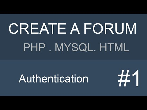 MYSQL PHP HTML Forum tutorial - Part 1
