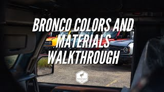 2021 Ford Bronco Colors & Materials Walkthrough | Bronco Nation