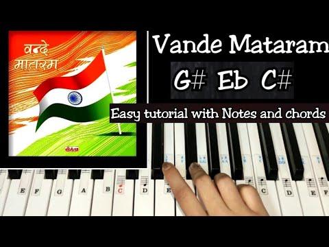 vande-mataram---easy-piano-tutorial-with-notations-and-chords-#deshbhaktigeet