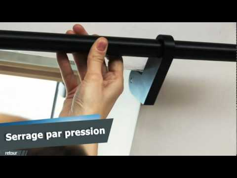 Ridorail ib tringle rideau pour fen tre de to t youtube - Accrocher un tableau sans percer ...
