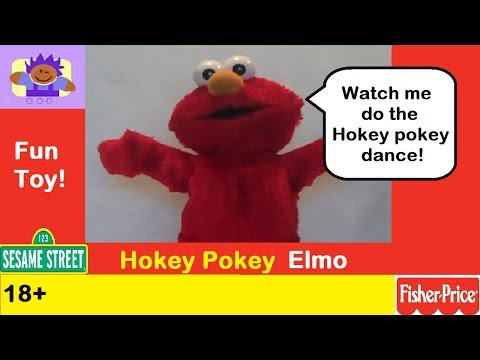 2002 Sesame Street Hokey Pokey Dancing Elmo Plush Toy By Fisher Price