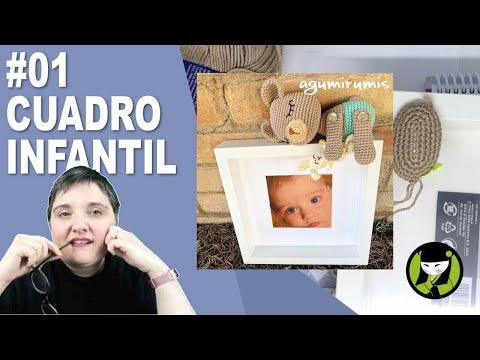 CUADRO INFANTIL AMIGURUMI 1 paso a paso