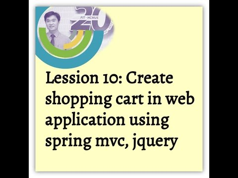 Lession 10: Create shopping cart in web application using spring mvc, jquery