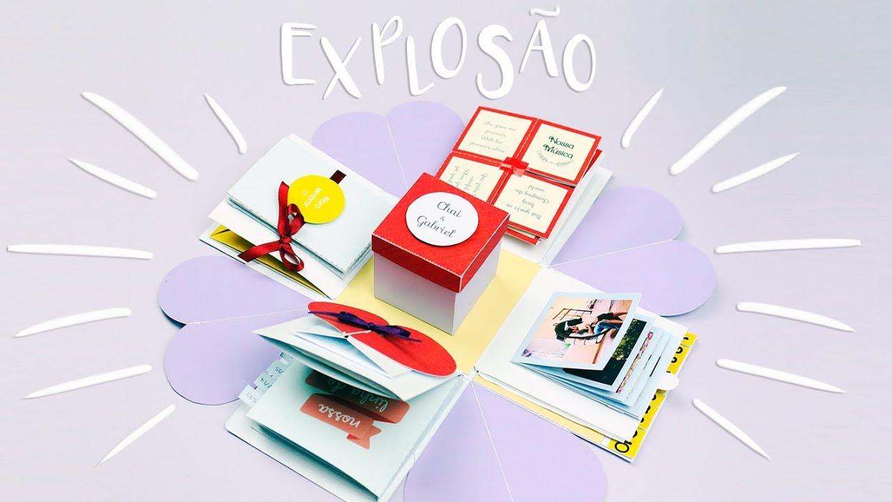 Diy Caixa Explosiva Para O Namorado Youtube