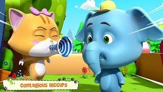 Tarttuva Hikka | Hauska Video Lapsille | Contagious Hiccups | Funny Cartoon | Kids Tv Suomi