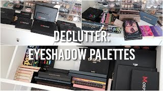 connectYoutube - MAKEUP DECLUTTER: Eyeshadow Palettes 2018