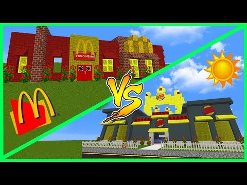 Minecraft McDonalds House VS Burger King House - THE MOST EPIC FAST FOOD BATTLE!