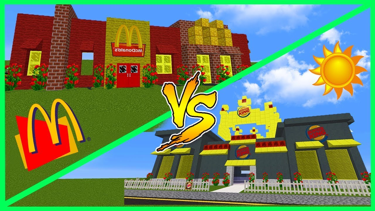 Minecraft Mcdonalds House Vs Burger King House The Most Epic Fast Food Battle