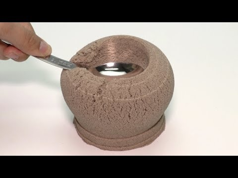 Smashing Kinetic Sand Cup & Rewind - Oddly Satisfying