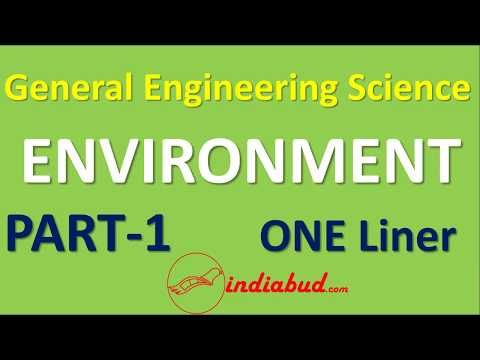 General Engineering Science   Environment l Part-1   One Liner   for BPSC AE Exam