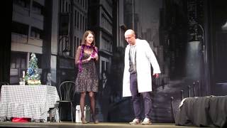 Врач обучает пациентку стонать во время секса. Урок№1 разработка  рта. Спектакль в Мриуполе.