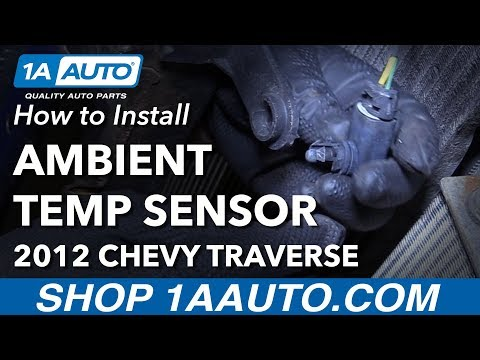 How to Install Replace Ambient Temperature Sensor 2012 Chevy Traverse