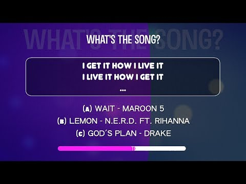 What's the song? | Lyrics QUIZ from BILLBOARD HOT100 February 2018