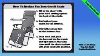 Caravan Sports Infinity Oversized Zero Gravity Chair Instructions & Review Top-hot-stuff