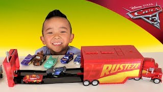 Disney Cars RUST-EZE RACE TRACK MACK Toys Unboxing With Ckn