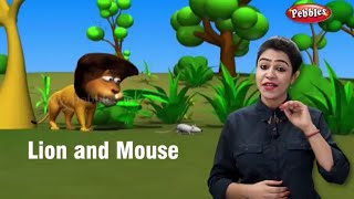 Moral Stories in English For Children | The Lion and Mouse Story | Storytelling in English For Kids