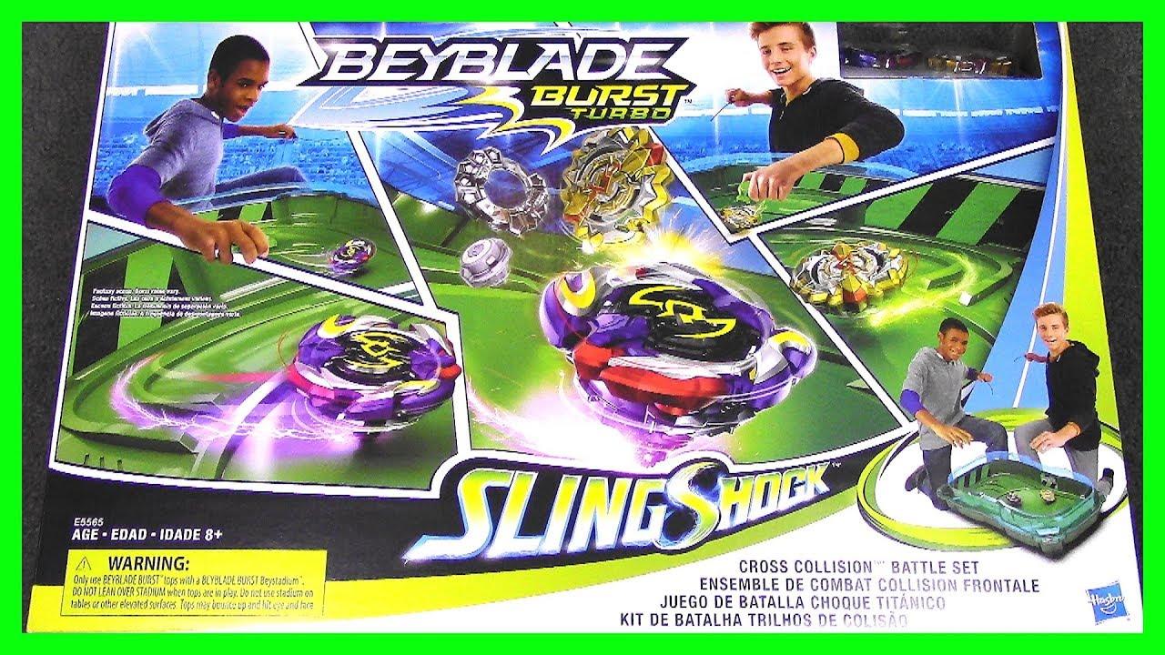 Beyblade Burst Turbo Sling Shock Cross Collision Battle Set New In Box