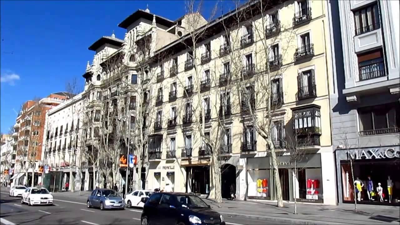 Madrid spain la calle de serrano y ortega gasset - Calle serrano 55 madrid ...
