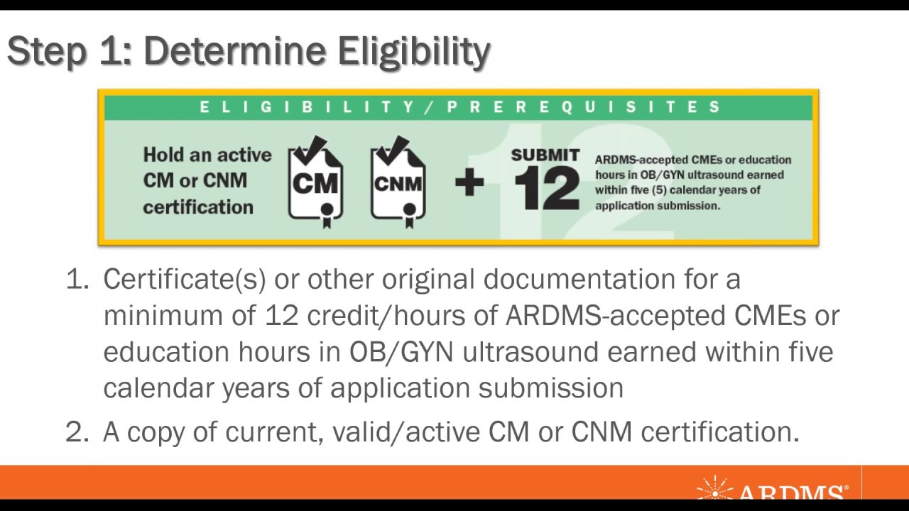 Ardms Midwife Sonography Certification Process Webinar Youtube