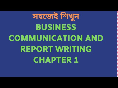 Business Communication And Report Writing [Chapter 1]