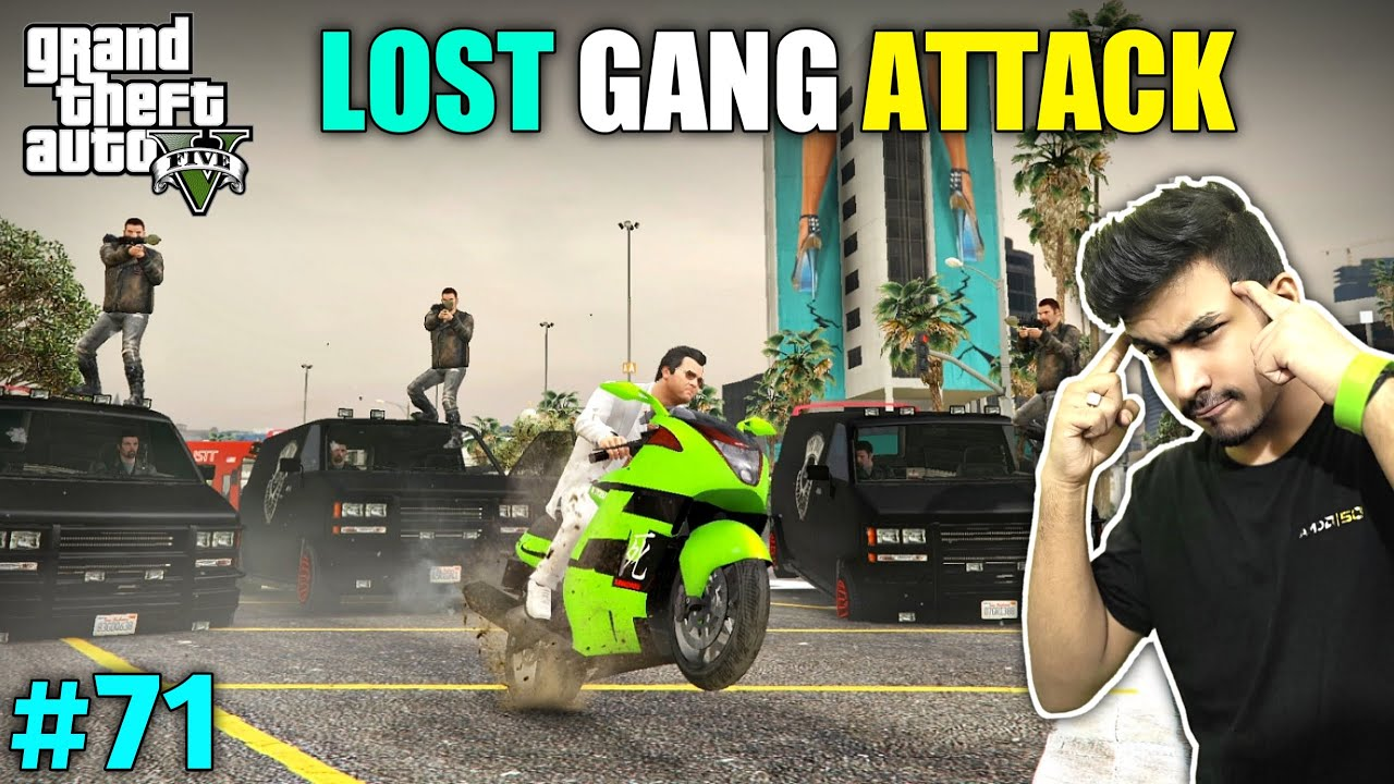 LOST GANG ATTACK ON MICHEAL | GTA V GAMEPLAY #71 thumbnail