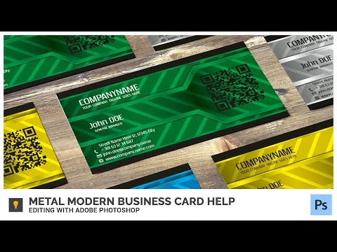 Metal Modern Business Card Help - Editing with Adobe Photoshop