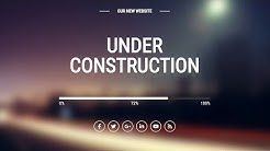 Under Construction Page Design using Html and css || Coming soon Page
