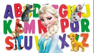 Apprendre l'Alphabet Aux Enfants en s'Amusant avec les Heros et Princesses des films de Disney Pixar