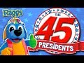 Nursery Rhymes Party Songs | The 45 Presidents Song - 4th July Special | Songs For Kids Raggs TV