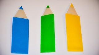 як зробити олівець з паперу орігамі