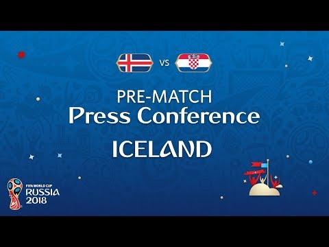 FIFA World Cup™ 2018: ISL vs CRO : Iceland - Pre-Match Press Conference