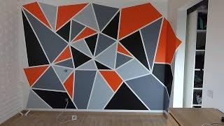 Интересное решение в ремонте! Геометрическая покраска стен.