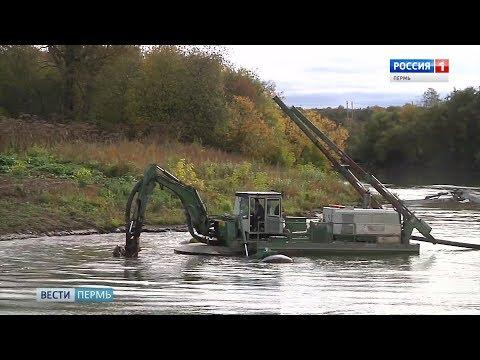В Кудымкаре чудо-машина углубит искусственное русло Иньвы