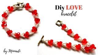 ❤️Diy LOVE bracelet. Jewelry making tutorial.
