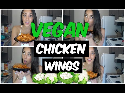 Vegan Cauliflower Buffalo Wings: Cooking With Haley!