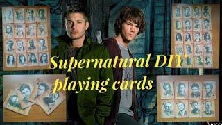Supernatural DIY playing cards карты с героями сериала сверхъестественное