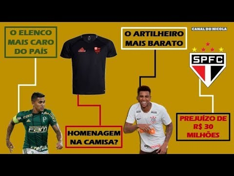 aaf7416c58c36 A folha salarial do Palmeiras, o salário de Gustagol, o prejuízo do São  Paulo e a camisa do Flamengo