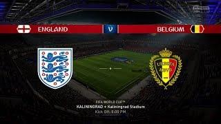 2018 FIFA World Cup Russia - England vs Belgium (Full Gameplay)