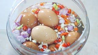 Cara Membuat Telur Asin Berbumbu