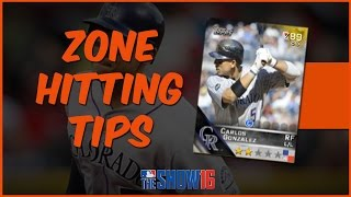 MLB 16 The Show Diamond Dynasty | Zone Hitting Tips - Changing Locations