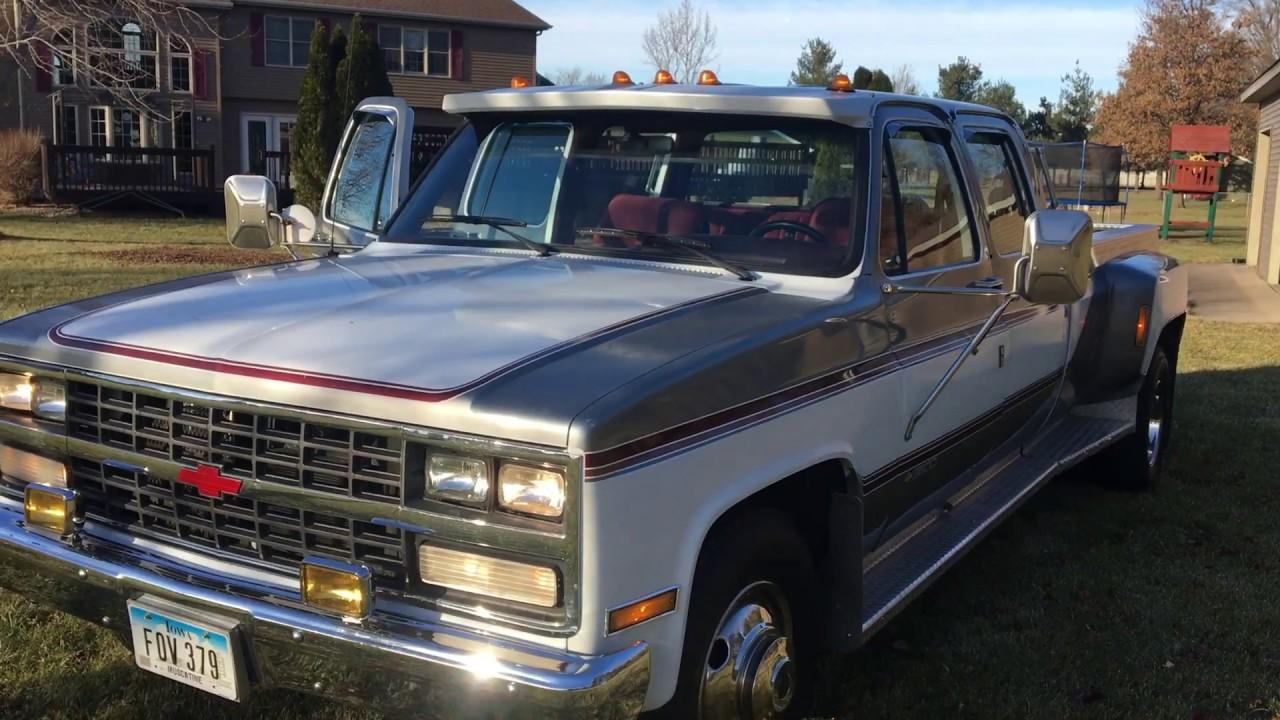 Chevy 3 3 >> 1989 Chevy R3500 Silverado Dually 3 3 Youtube